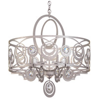 Schonbek WB1008N-48S Gwynn 8 Light 28 inch Antique Silver Chandelier Ceiling Light in Gwynn Swarovski
