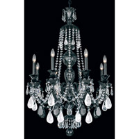Hamilton 8 Light 29 inch Jet Black Chandelier Ceiling Light