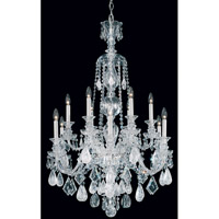 Schonbek Hamilton Rock Crystal 12 Light Chandelier in Silver and Clear Rock Crystal Trim 5508CL