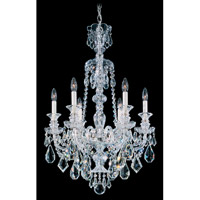 Schonbek Hamilton 6 Light Chandelier in Silver and Clear Heritage Handcut Trim 5705CL
