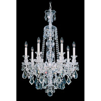 Schonbek Hamilton 7 Light Chandelier in Silver and Clear Heritage Handcut Trim 5706CL