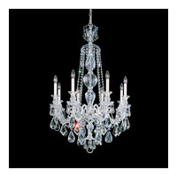 Schonbek Hamilton 8 Light Chandelier in Silver and Clear Heritage Handcut Trim 5707CL