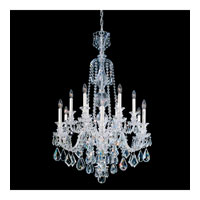 Schonbek Hamilton 12 Light Chandelier in Silver and Clear Heritage Handcut Trim 5708CL