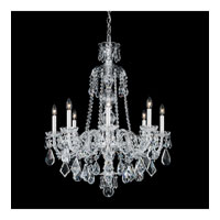 Schonbek Hamilton 8 Light Chandelier in Silver and Clear Heritage Handcut Trim 5737CL