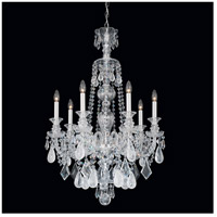 Polished Silver Crystal Chandeliers