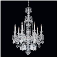 Schonbek 5506CL Hamilton Rock Crystal 7 Light 26 inch Silver Chandelier Ceiling Light in Polished Silver Hamilton Rock Clear