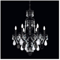 Schonbek 5535BK Hamilton Rock Crystal 6 Light 22 inch Jet Black Chandelier Ceiling Light in Hamilton Rock Clear Jet