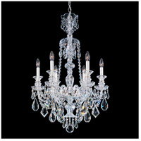Schonbek 5705CL Hamilton 6 Light 22 inch Silver Chandelier Ceiling Light in Polished Silver Hamilton Heritage