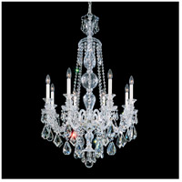 Hamilton 8 Light 28 inch Silver Chandelier Ceiling Light in Clear Heritage