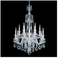 Hamilton 12 Light Silver Chandelier Ceiling Light in Clear Heritage