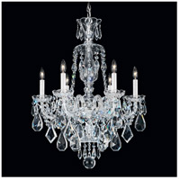 Hamilton 6 Light Silver Chandelier Ceiling Light in Clear Heritage