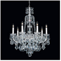Hamilton 7 Light Silver Chandelier Ceiling Light in Clear Heritage