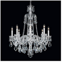 Hamilton 8 Light Silver Chandelier Ceiling Light in Clear Heritage