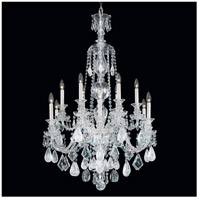 Hamilton 12 Light Silver Chandelier Ceiling Light in Clear