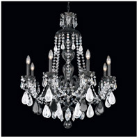 Hamilton 8 Light Jet Black Chandelier Ceiling Light