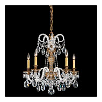 Schonbek Isabelle 5 Light Chandelier in Florentine Bronze and Clear Spectra Crystal Trim 6305-83A