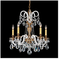 Isabelle 5 Light 22 inch Florentine Bronze Chandelier Ceiling Light in Clear Spectra
