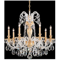 Isabelle 7 Light 28 inch Parchment Gold Chandelier Ceiling Light in Clear Optic Handcut