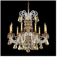 Schonbek 6309-27A Isabelle 9 Light 31 inch Parchment Gold Chandelier Ceiling Light in Clear Spectra