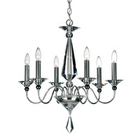 Schonbek Jasmine 6 Light Chandelier in Silver and Clear Optic Handcut Trim 9676-40CL