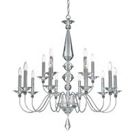 Schonbek Jasmine 15 Light Chandelier in Silver and Clear Optic Handcut Trim 9685-40CL