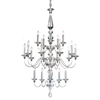 Schonbek Jasmine 20 Light Chandelier in Silver and Clear Optic Handcut Trim 9690-40CL