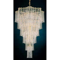 Schonbek Jubilee 17 Light Chandelier in Gold and Clear Gemcut Trim 2651-20