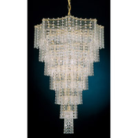 Schonbek Jubilee 21 Light Chandelier in Gold and Clear Gemcut Trim 2653-20