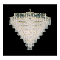 Schonbek Jubilee 15 Light Chandelier in Gold and Clear Gemcut Trim 2654-20