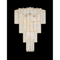 Schonbek Jubilee 4 Light Wall Sconce in Gold and Clear Gemcut Trim 2673-20