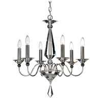 Jasmine 6 Light 23 inch Silver Chandelier Ceiling Light