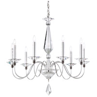 Schonbek 9679-40CL Jasmine 9 Light 33 inch Silver Chandelier Ceiling Light in Clear Vintage