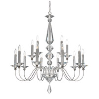 Schonbek 9685-40CL Jasmine 15 Light 36 inch Silver Chandelier Ceiling Light in Polished Silver, Clear Vintage