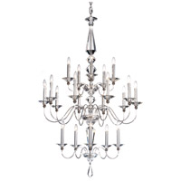 Jasmine 20 Light 36 inch Silver Chandelier Ceiling Light