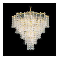 Schonbek Jubilee 7 Light Chandelier in Gold and Clear Gemcut Trim 2648-20