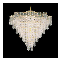 Schonbek Jubilee 13 Light Chandelier in Gold and Clear Gemcut Trim 2652-20