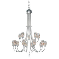 Schonbek Dionyx 15 Light Chandelier in Stainless Steel and Sun Dance Swarovski Elements Trim DI2840SUN