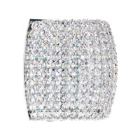 Schonbek Dionyx 1 Light Wall Sconce in Stainless Steel and Crystal Swarovski Elements Trim DIW0807S