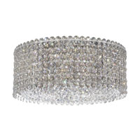 Matrix 4 Light 12 inch Stainless Steel Flush Mount Ceiling Light in Clear Swarovski, Geometrix