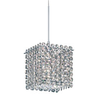 Matrix 1 Light 5 inch Stainless Steel Pendant Ceiling Light in Clear Swarovski, Geometrix,Canopy Sold Separately