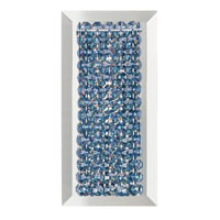 Schonbek Matrix 1 Light Wall Sconce in Stainless Steel and Crystal Swarovski Elements Trim MTW0510S
