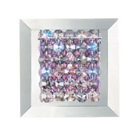 Matrix 1 Light 6 inch Stainless Steel Wall Sconce Wall Light in Clear Swarovski, Geometrix