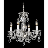 Schonbek Minuet 4 Light Chandelier in Silver and Clear Heritage Handcut Trim 6984CL