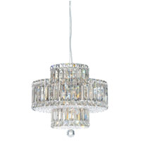 Schonbek Plaza 9 Light Pendant in Stainless Steel and Crystal Swarovski Elements Trim 6671S