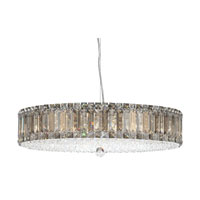 Plaza 21 Light 25 inch Stainless Steel Pendant Ceiling Light in Clear Swarovski