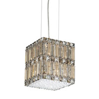 Quantum 8 Light 9 inch Stainless Steel Pendant Ceiling Light in Clear Swarovski