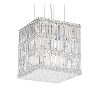 Schonbek Quantum 13 Light Pendant in Stainless Steel and Clear Spectra Crystal Trim 2247A