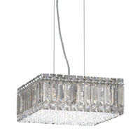 Quantum 8 Light 12 inch Stainless Steel Pendant Ceiling Light in Clear Swarovski