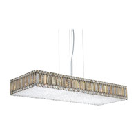 Quantum 23 Light 39 inch Stainless Steel Pendant Ceiling Light in Clear Swarovski