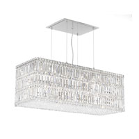 Schonbek Quantum 33 Light Pendant in Stainless Steel and Clear Spectra Crystal Trim 2281A
